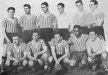 Los Andes of Argentina team group in 1938.