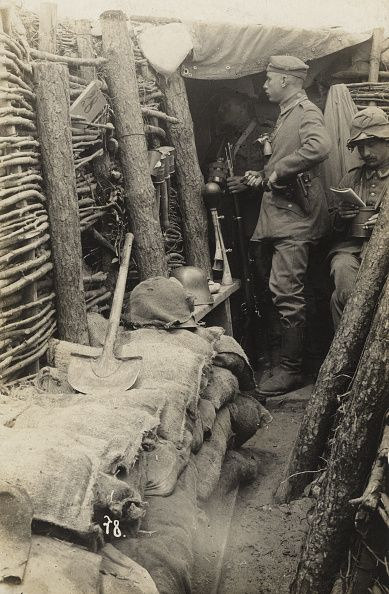 World War I German trench Ca 1916                                                                                                                                                                                 More
