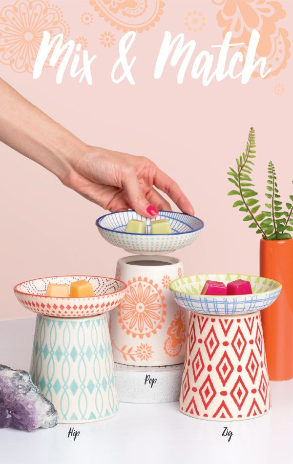 Six colorful pieces to mix and match your Scentsy Warmer as you please! Swap any which way and still look fab. MaximoScent.Scentsy.US