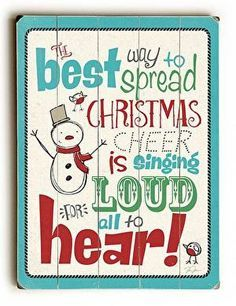 Christmas Cheer Wood Sign The best way to spread Christmas cheer is signing loud for all to hear. With a fun vintage feel, this Christmas Cheer Wood Sign will add cheer to your holiday decor. Cleverly