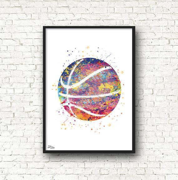 Ballon Basket Poster Basketball Art Sport Affiche Idee Cadeau
