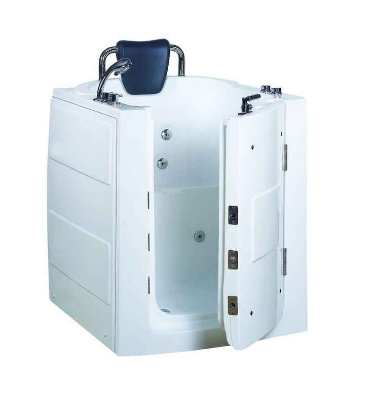 Baignoire à porte ASTOVE, 95 * 80 * 100 cm pour personnes à mobilité reduite - baignoire design - mobilier salle de bain