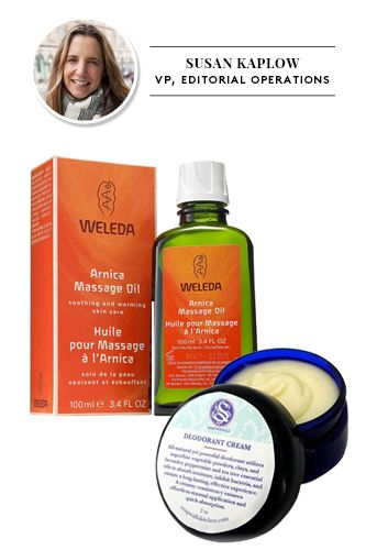 17 Eco-Friendly Beauty Buys That Really Work: Weleda Arnica massage oil, and Soapwalla Kitchen Deodorant Cream