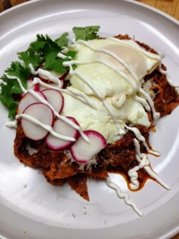 Chicken Chilaquiles With Fried Eggs | Recipes to try | Pinterest