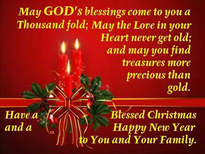 Have A Blessed Christmas And A Happy New Year