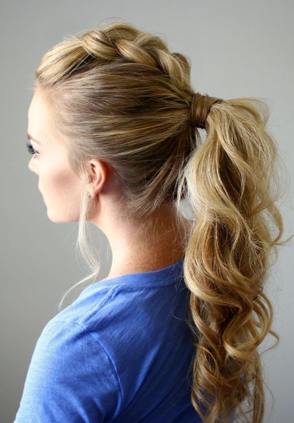 ponytail hairstyles for long hair. hairstyles good for going from gym to work/out.