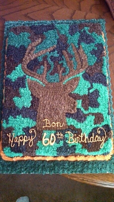 Camo/Hunting cake