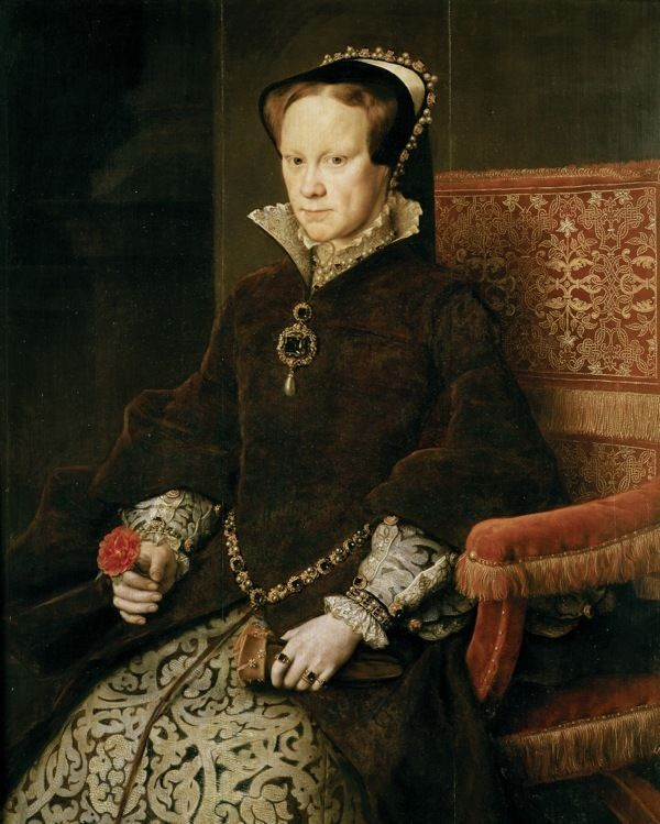 QUEEN OF ENGLAND BLOODY MARY I MARIA TUDOR PORTRAIT CANVAS GICLEE 8X10 ART PRINT #Realism