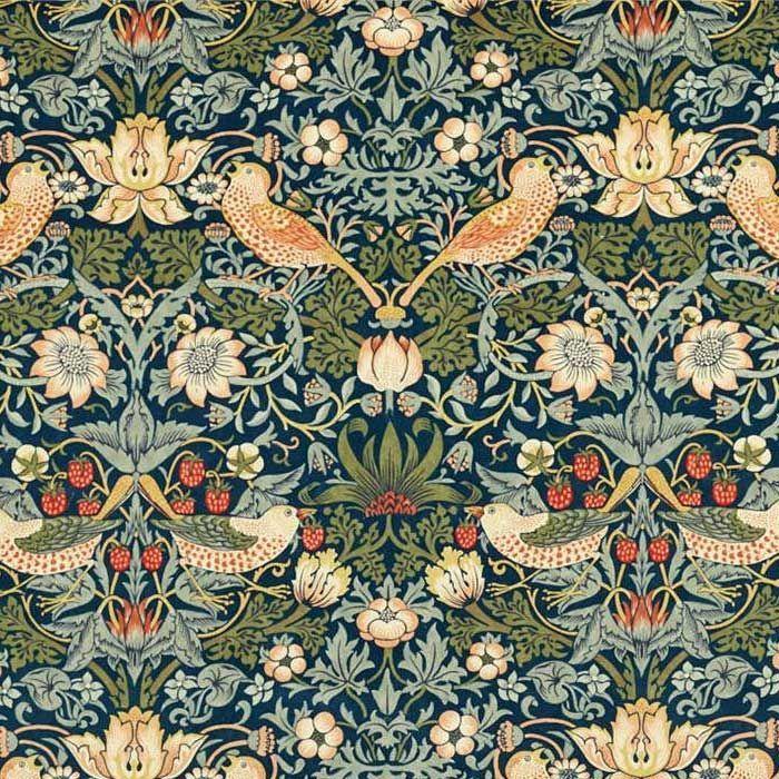 Strawberry Thief Velvet Fabric in 2020 William morris