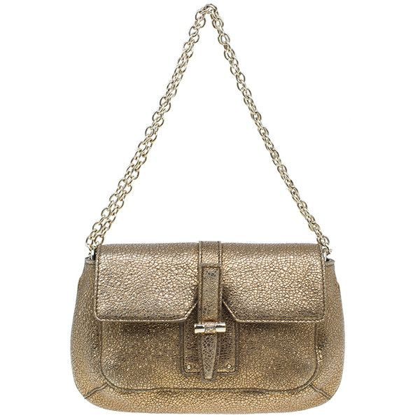 LC - Buy \u0026amp; Sell - Yves Saint Laurent Metallic Gold Leather Emma ...