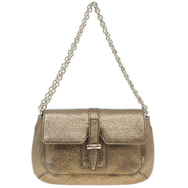 LC - Buy \u0026amp; Sell - Yves Saint Laurent Metallic Gold Leather Emma ...
