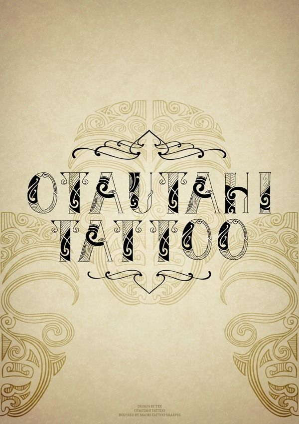 Maori Tattoo font on Typography Served