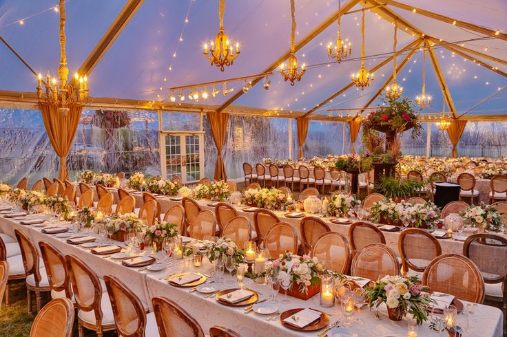 Wild Onion Ranch tented reception with chandeliers in Austin by Brock & Co Events and Caroline's Collective.
