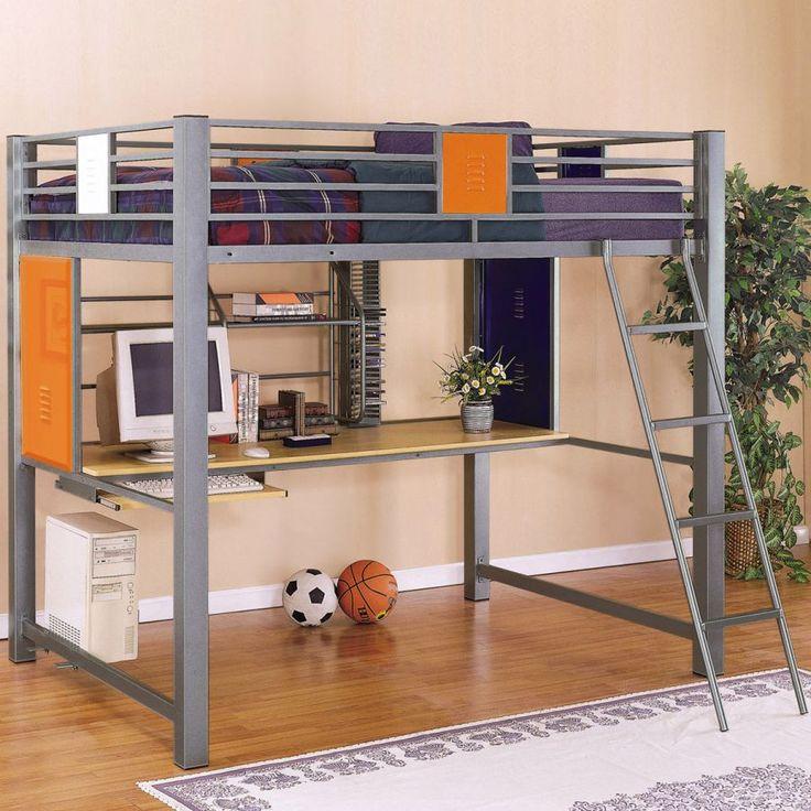 Best Boys Loft Beds For 2014: Tiesto Full Loft Bed Via  PlatformBedsOnline.com Part 39