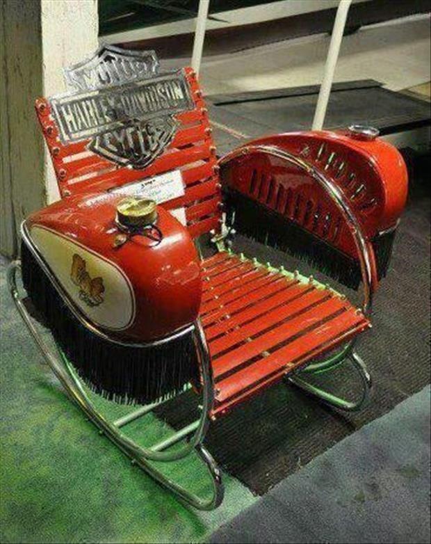 Amazing Ideas For Your Man Cave 25 Pics Car Part Art Automotive Decor Harley Davidson