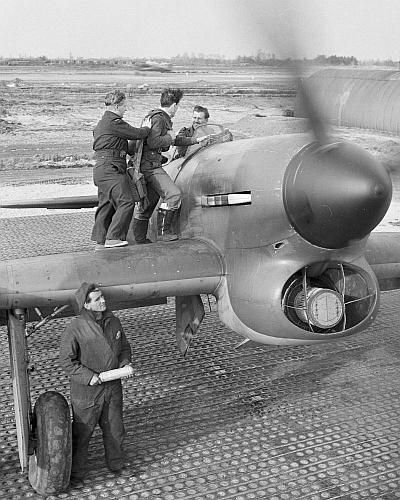 Hawker Tempest on mainland Europe,Temp airfield.1944