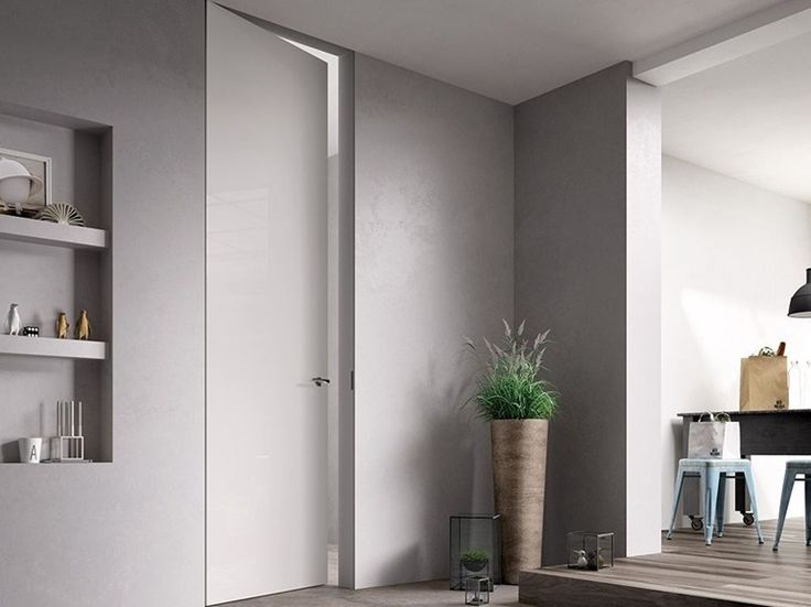 Porta a filo muro in legno EXIT ZERO Collezione Exit by FERREROLEGNO