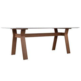 De Zuiver High On Wood Eettafel heeft een eigentijds design! De tafel heeft een solide houten onderstel en een mooi, glossy tafelblad. Het witte glossy blad steekt mooi af op het houten onderstel. Leuk te combineren met allerlei soorten stoelen.