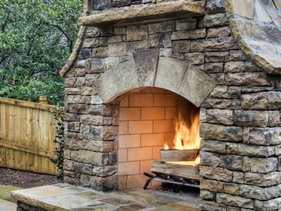 17 Best Images About Stacked Stone Fireplace For Basement