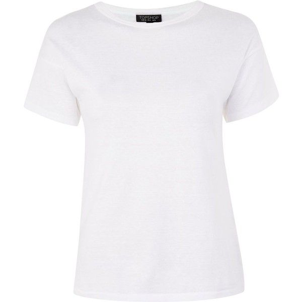 Topshop Marl Short Sleeve T-Shirt ($16) ❤ liked on Polyvore featuring tops, t-shirts, shirts, topshop, white, polyester t shirts, white top, marled top, marled tee and short sleeve tee