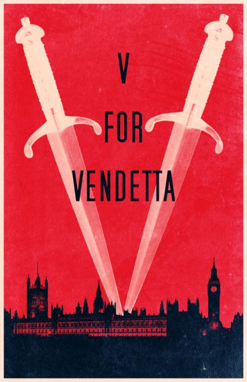 V for Vendetta - movie poster - Travis English