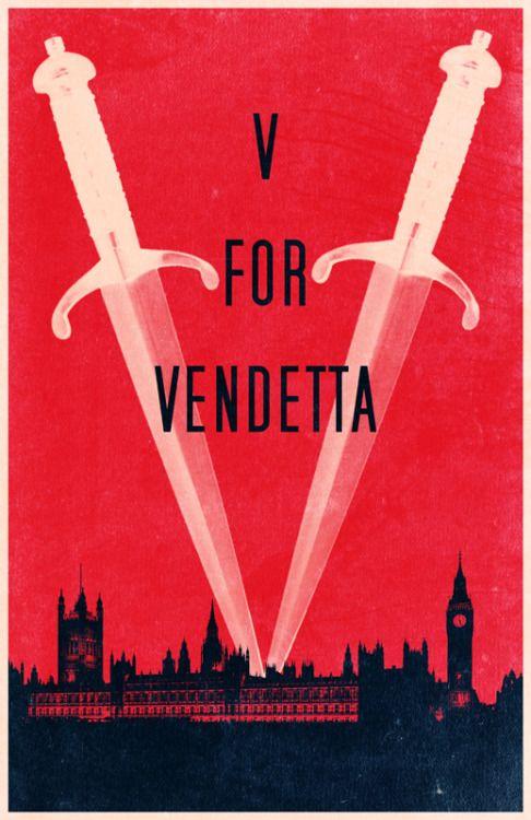 V for Vendetta (2005) ~ Minimal Movie Poster by Travis English #amusementphile