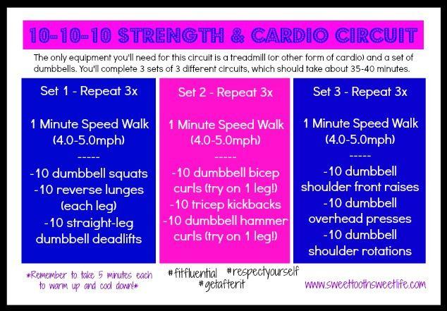 10-10-10 Strength & Cardio Circuit | Sweet Tooth, Sweet Life