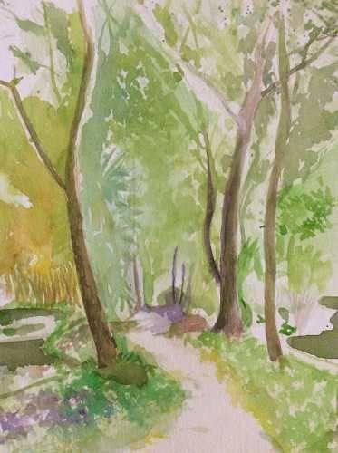 Pintura A La Acuarela - $ 2,200.00 en MercadoLibre
