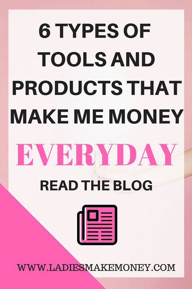 Ready to make money online? Here is a list of 6 types of tools and products that make me money everyday? How to make money from home using your laptop the easy way. Affiliate marketing is the best way to earn money online!