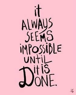 Until it is done.