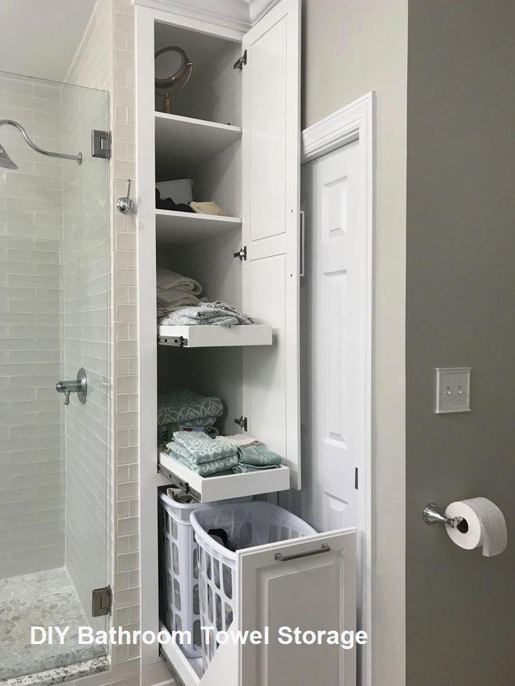 Great Diy Bathroom Towel Storage Ideas 1 Bathroom Storage Solutions Bathroom Remodel Master Bathrooms Remodel
