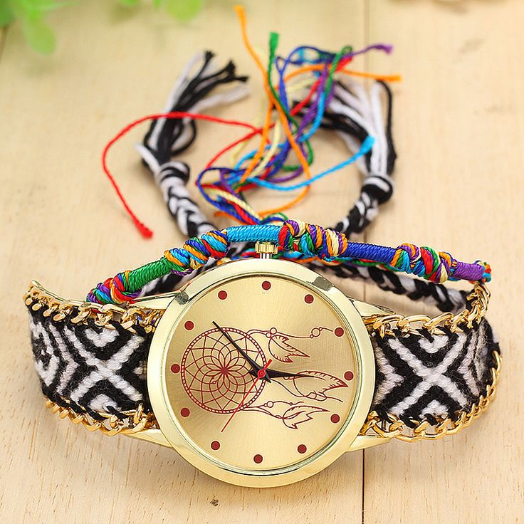 Dreamcatcher Quartz Watch with Native Handmade Knitted Band