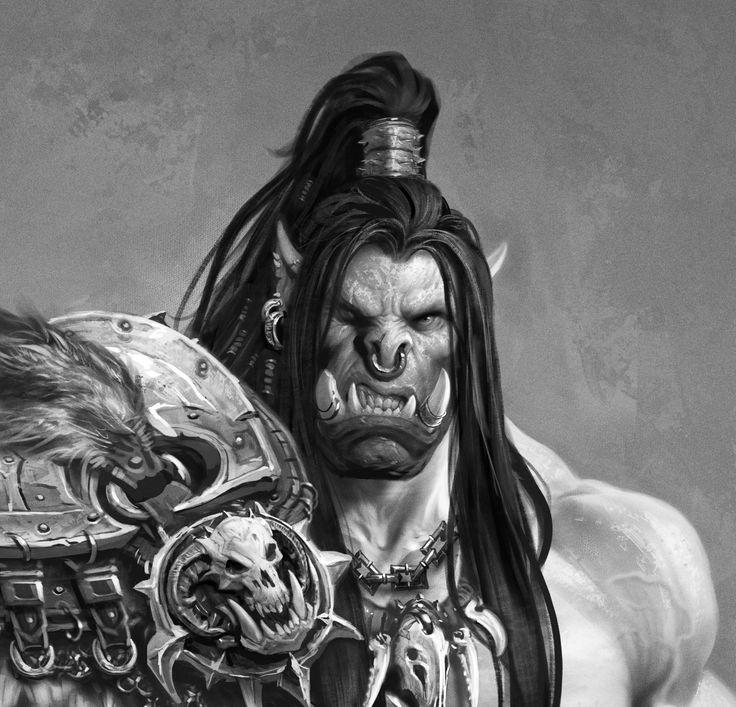 The Art of Warcraft Film - HellScream, Wei Wang on ArtStation at https://www.artstation.com/artwork/6xq55