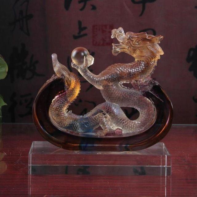 De oude glazen ornamenten Longsheng Taiping creatieve bureau Woninginrichting draak gift business relatiegeschenken