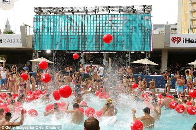 The Wet Republic pool party at the MGM Grand is on the agenda for Saturday...