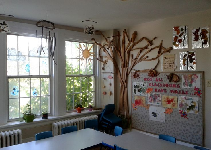 North Grenville Cooperative Preschool and Learning Centre- Nature and creativity go hand in hand seen in the décor of this preschool dining room.