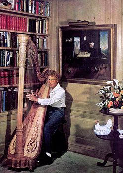 Harpo Marx playing - the harp! The whole world of music in Hollywood heyday was a fascinating research line for this book.