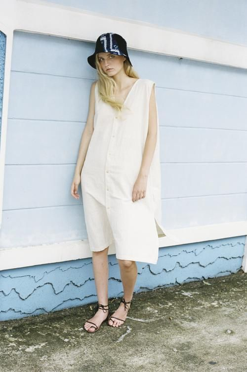 shop ethical sustainable & ethical clothing by Seeker x Retriever Nara Dress: Natural