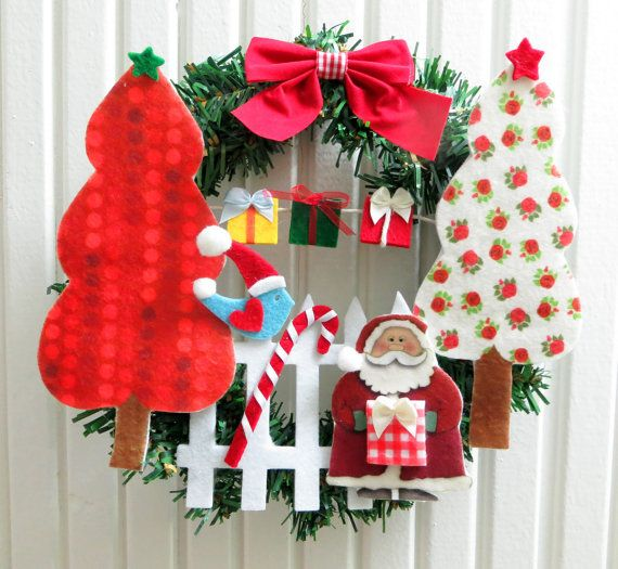 Cute Xmas Wreath Christmas Themes Embellished With by sesideco, $40.00