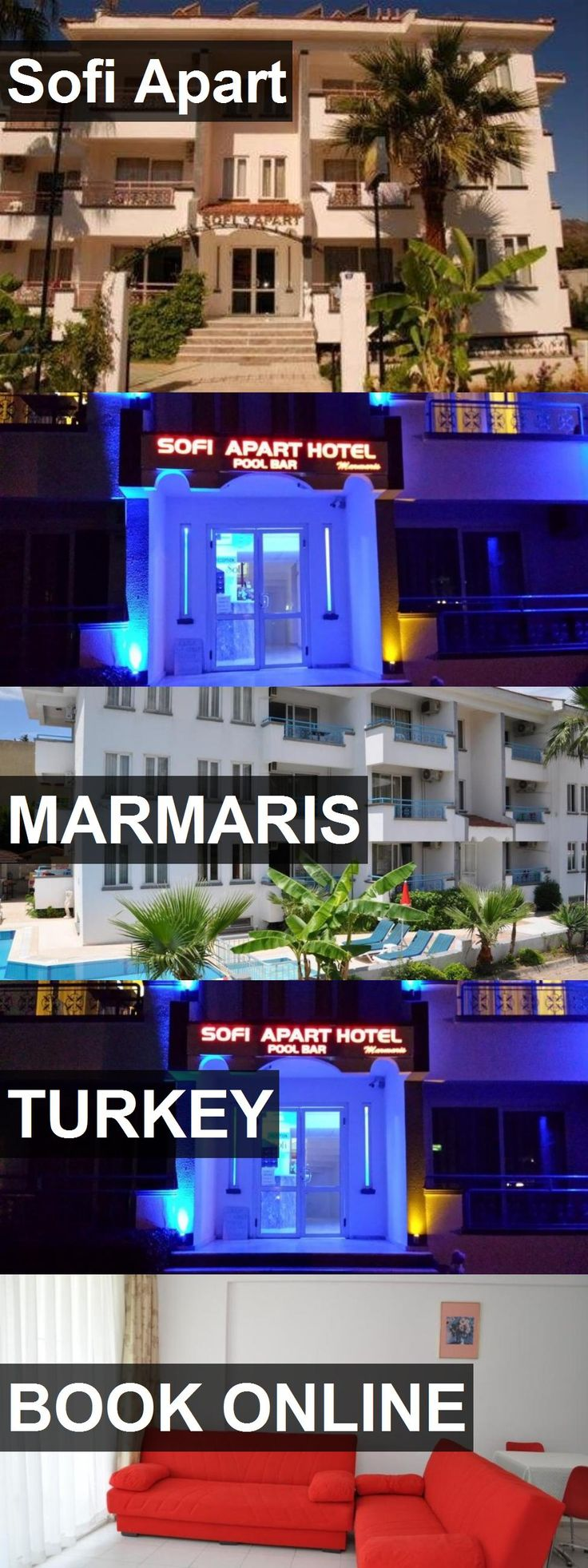 Hotel Sofi Apart in Marmaris, Turkey. For more information, photos, reviews and best prices please follow the link. #Turkey #Marmaris #hotel #travel #vacation