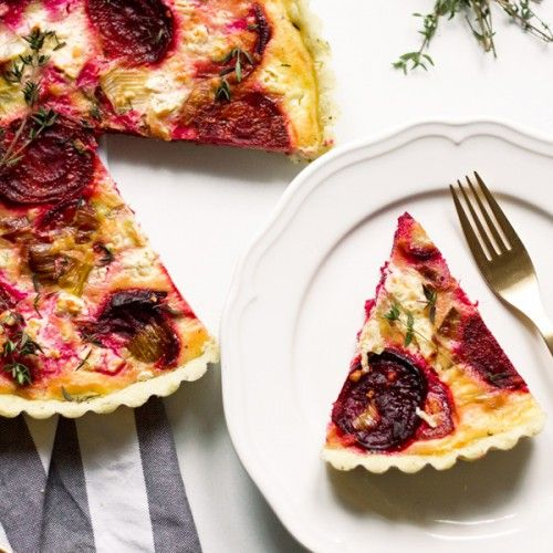 Add a splash of color to your Valentine's Day breakfast with this Beet and Feta Tart. - KS