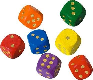 Kostky hrací lisované 25 mm