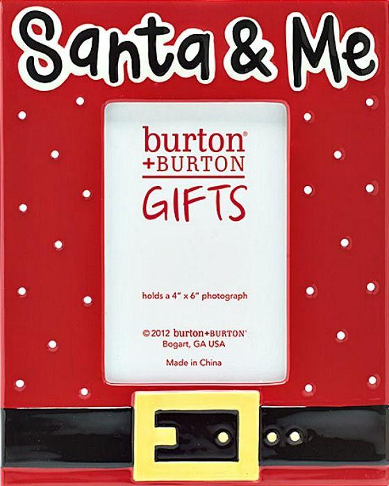 Santa & Me Ceramic Frame from Burton & Burton