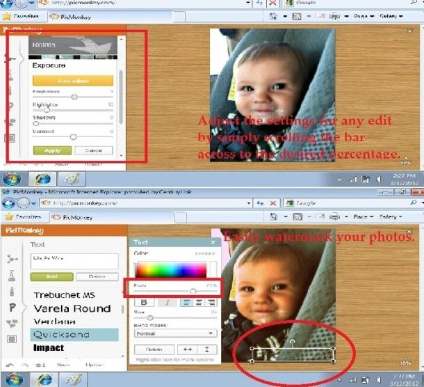 {Editing Pictures Online for Free with PicMonkey} Handy tool for those of you who do not have Photoshop!