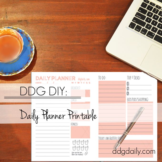 Free Daily Planner Printable from dropdeadgorgeousdaily.com