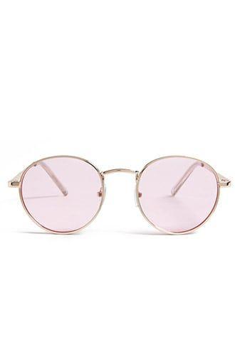 c8858bcdd9f Tinted Metal Round Sunglasses