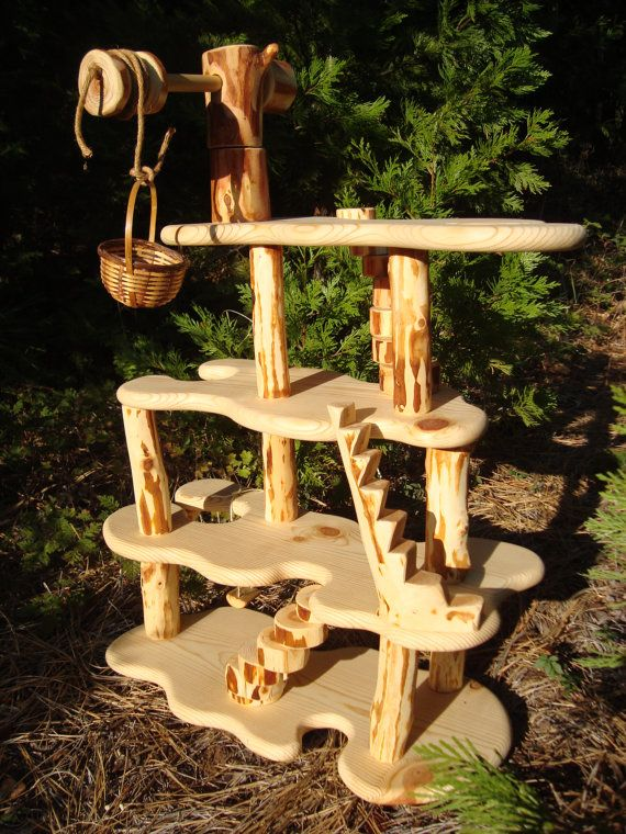 woodland gnome doll house by treespeak on Etsy, $220.00 Brendan and I are making the kids one