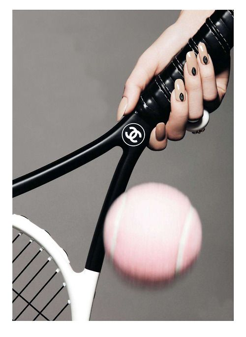 chanel tennis racket and pink ball. can I say this is my favorite tennis picture ever?!