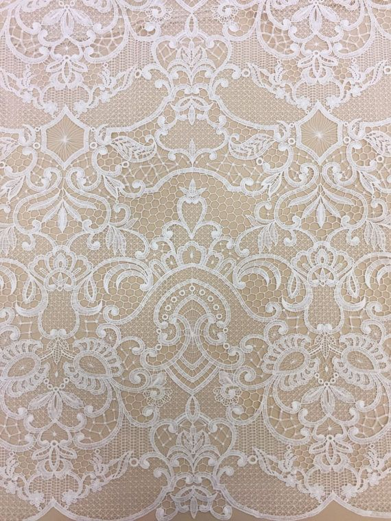 Offwhite macrame Lace fabric bridal lace fabric offwhite