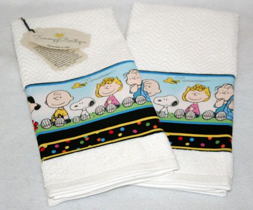 Snoopy Peanuts and The Gang Kitchen Towel Set Handmade Free Shipping Cute | eBay